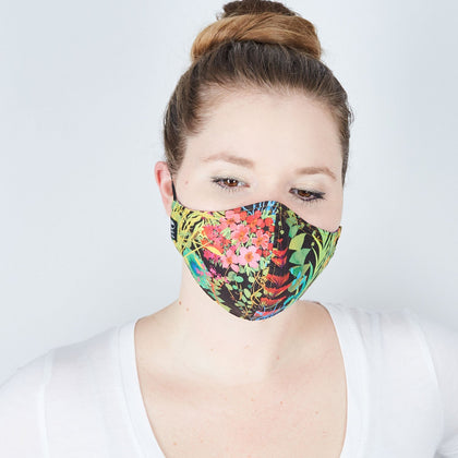 Silk + Cotton Cloth Face Mask - Electric Jungle - Odell Design Studio