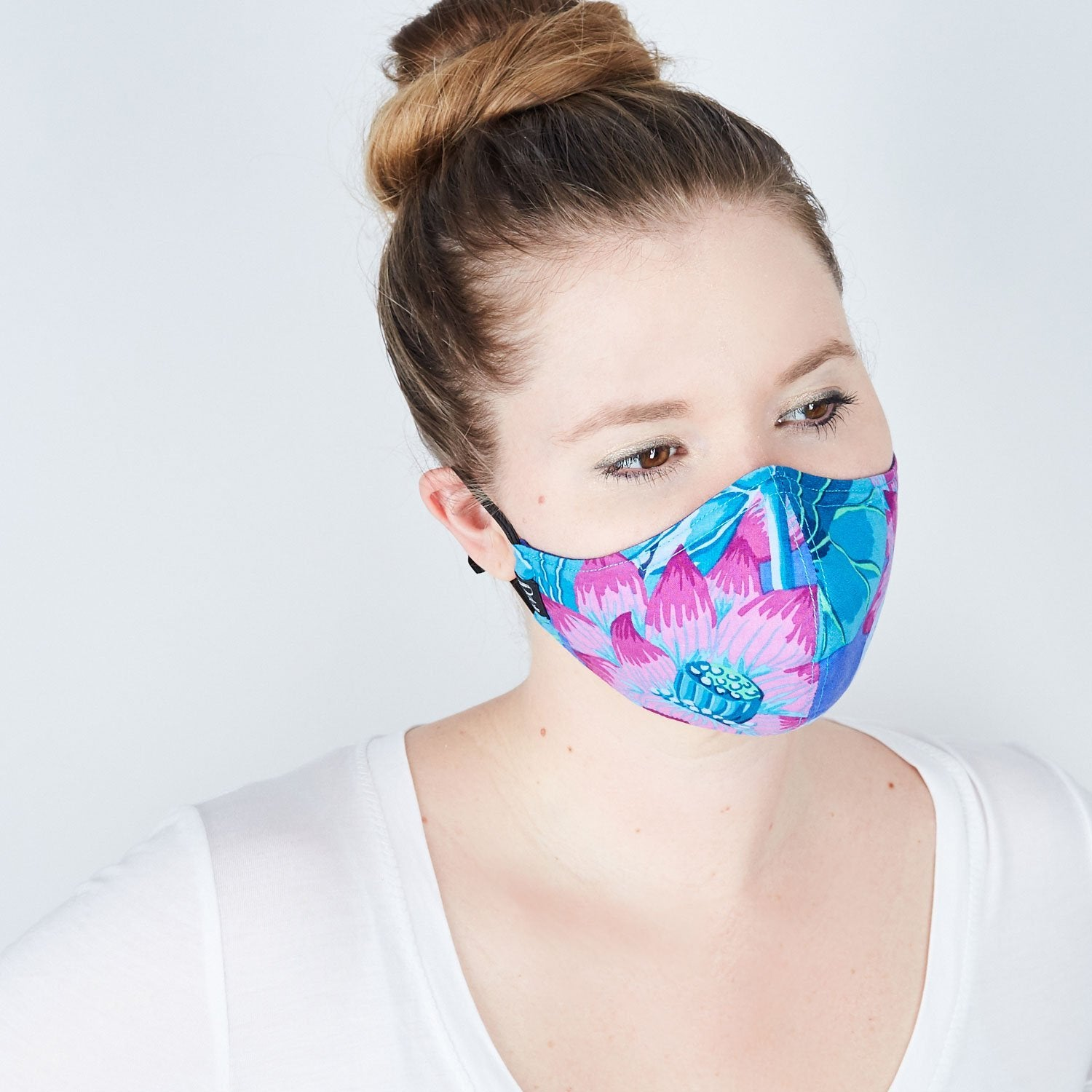 Silk + Cotton Cloth Face Mask - Radiant Bloom