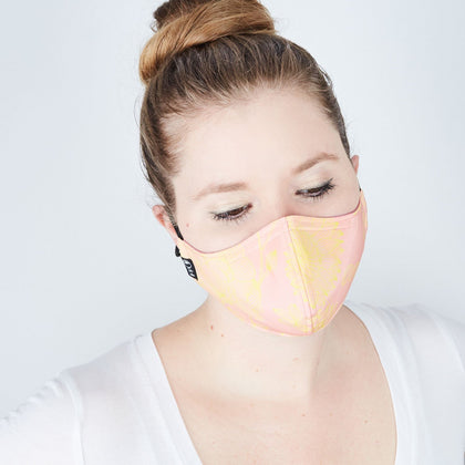 Silk + Cotton Cloth Face Mask - Summer Whisper - Odell Design Studio
