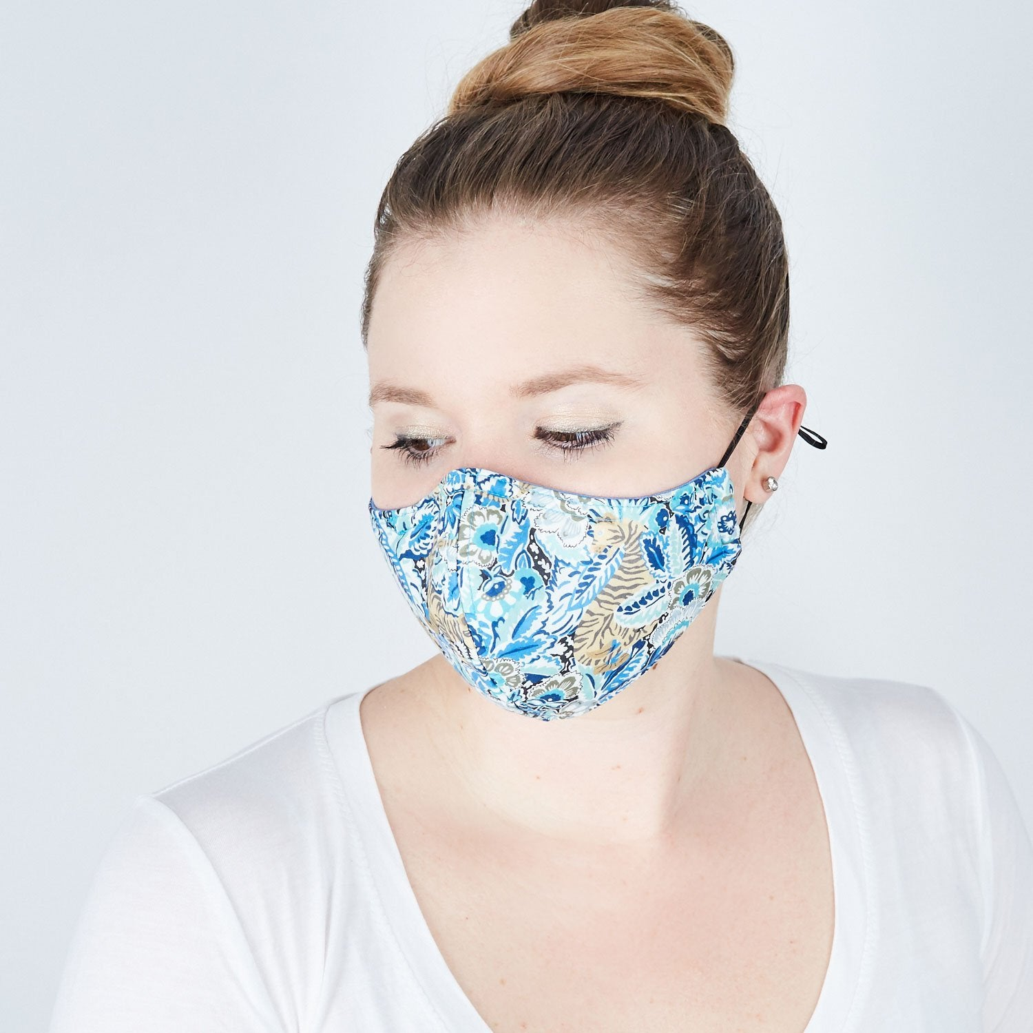 Silk + Cotton Cloth Face Mask - The Huntress