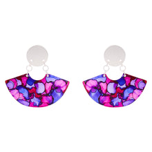 Load image into Gallery viewer, Silver Fan Earrings - Available in More Colors - Odell Design Studio