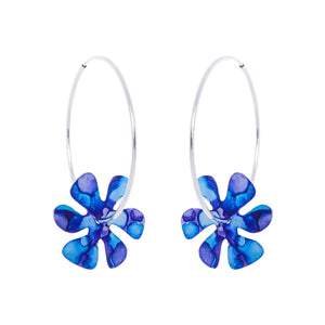 Silver Flower Power Hoops - Available in More Colors - Odell Design Studio