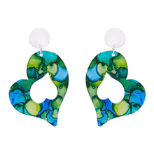 Load image into Gallery viewer, Silver Heart Earrings - Available in More Colors - Odell Design Studio