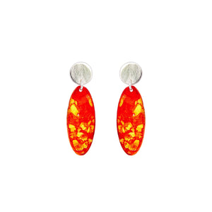 Silver Mini Oval Earrings - Available in More Colors - Odell Design Studio