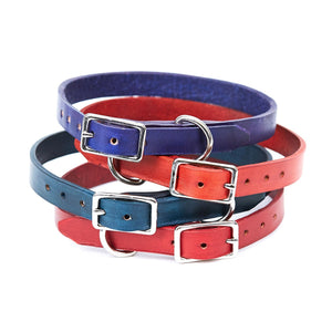 Small Leather Dog Collar - Available in More Colors