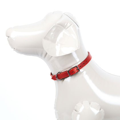 Small Leather Dog Collar - Available in More Colors - Odell Design Studio