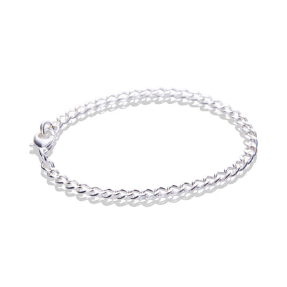 Sterling Silver Fine Flat Cable Chain Bracelet - Odell Design Studio