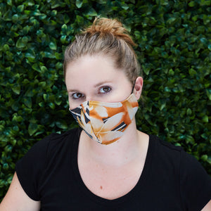"Women's ""Sippa"" Silk Chiffon/Cotton Face Mask - Fall into Fall - Odell Design Studio"