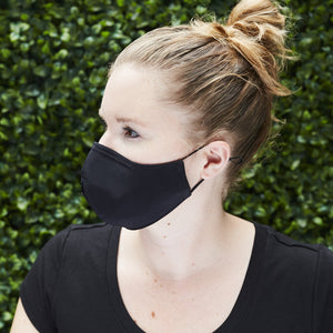 "Women's ""Sippa"" Silk/Cotton Combo Mask - Black/Gold Arrows - Odell Design Studio"
