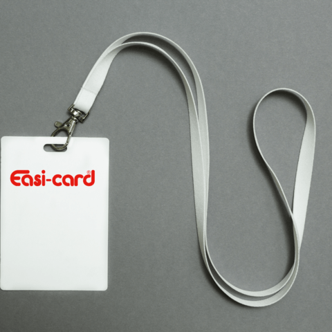 Lanyard with business identification