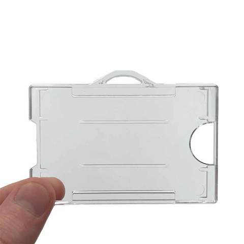 Clear ID badge holder