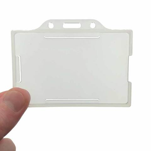Frosted ID badge holder