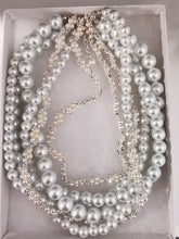 Load image into Gallery viewer, Bridal white pearl necklace