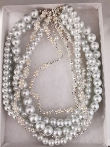 Bridal white pearl necklace