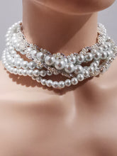 Load image into Gallery viewer, Swarovski wedding necklace