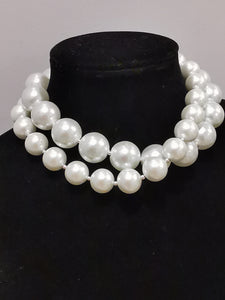 white luxury Pearls Necklace
