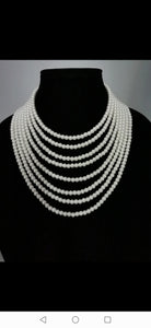 White glass pearls necklace