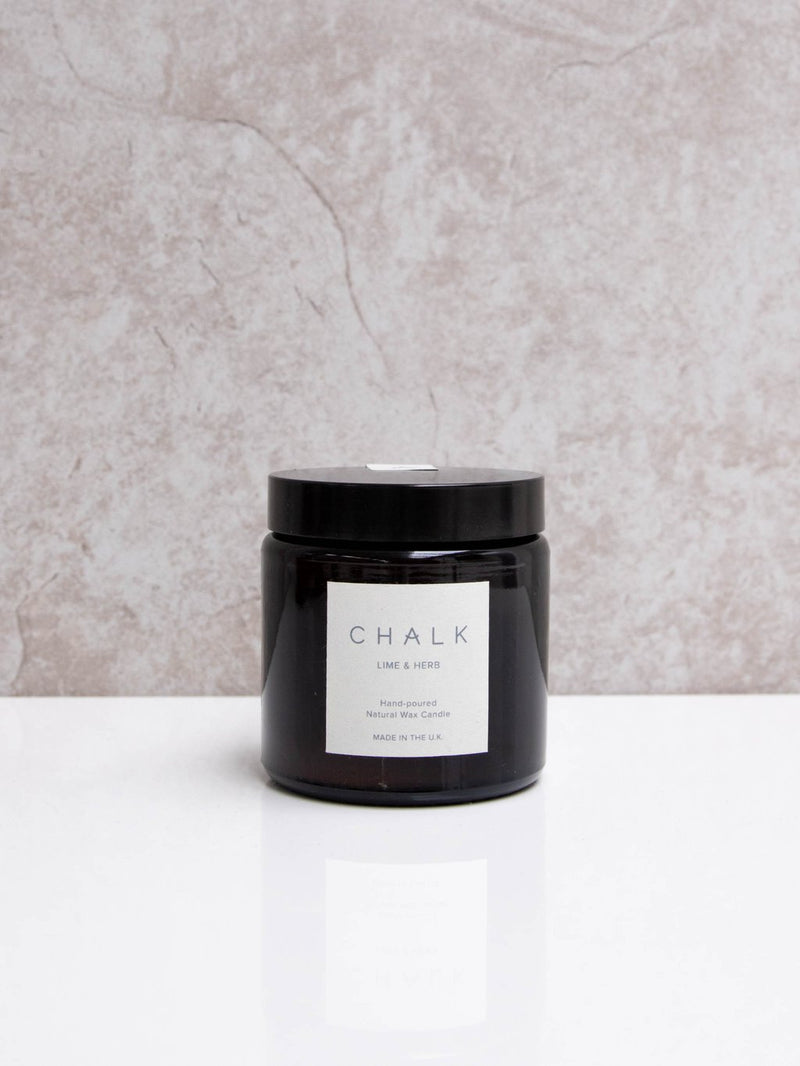 Chalk Candle 120ml - Lime & Herb