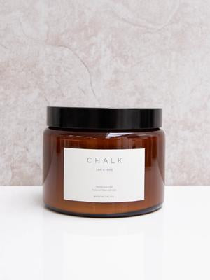 Chalk Candle 500ml - Lime & Herb