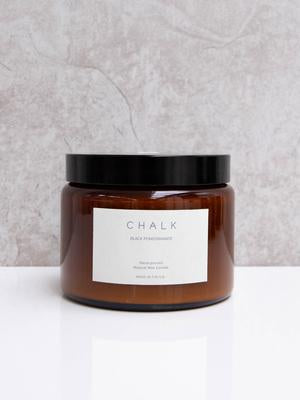 Chalk Candle 500ml - Black Pomegranate