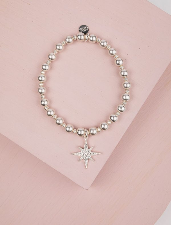 Olia Finola Bracelet in Silver with Starburst Charm