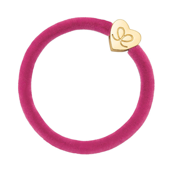 Bright Magenta Pink Velvet Bobble Band