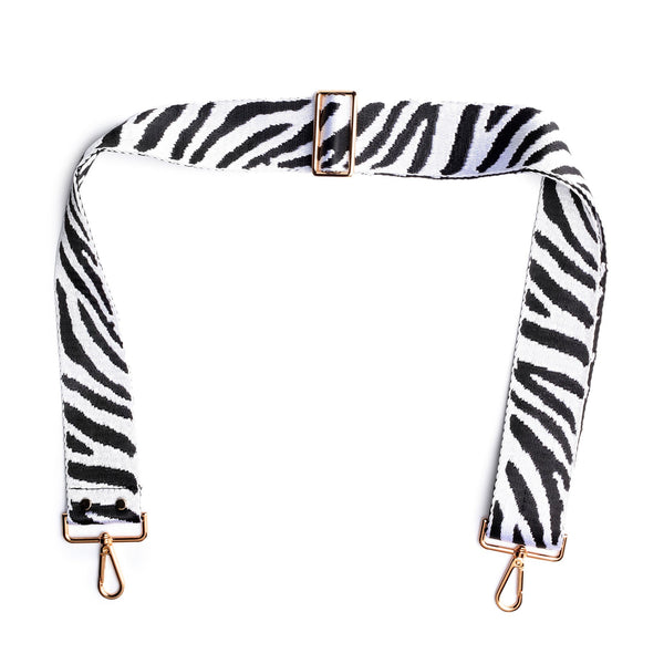 Fully Adjustable Crossbody Bag Strap in Zebra Print