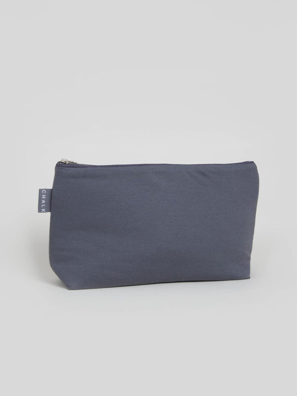 Chalk Medium Charcoal Jersey Wash Bag with Waterproof Lining
