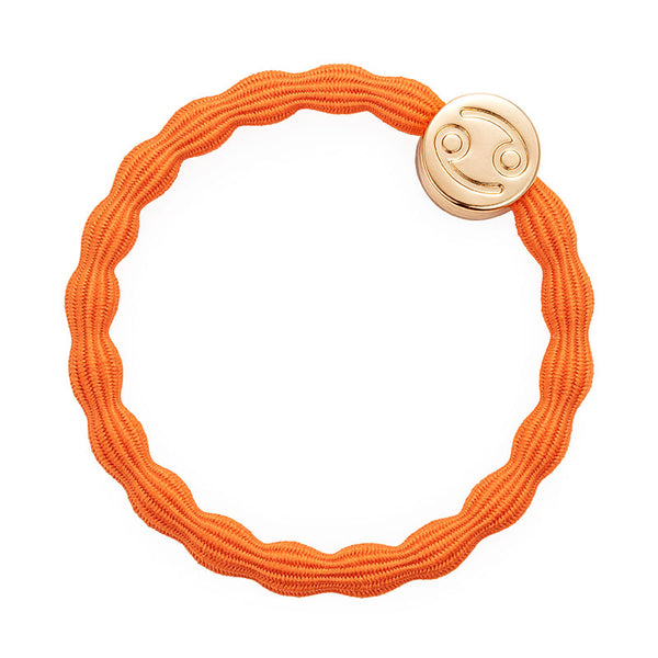 Orange Cancer Bobble Band with Gold Charm