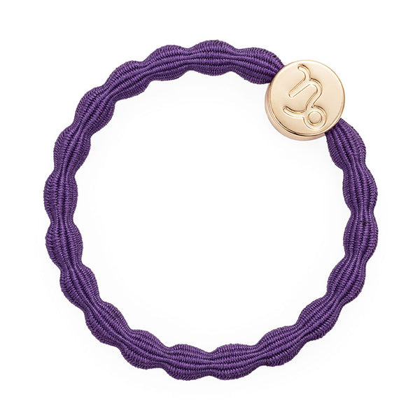 Purple Capricorn Bobble Band with Gold Charm