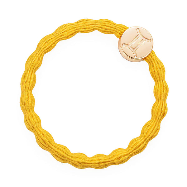 Yellow Gemini Bobble Band with Gold Charm