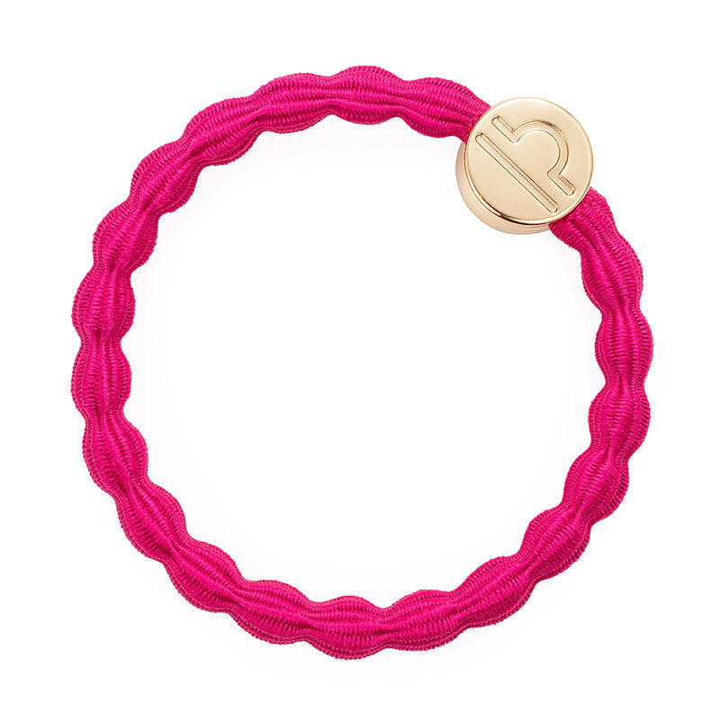 Fuchsia Libra Bobble Band with Gold Charm