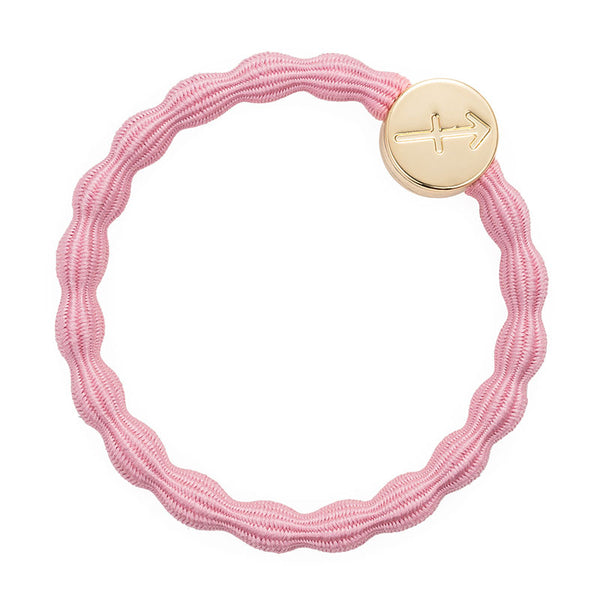 Pink Sagittarius Bobble Band with Gold Charm