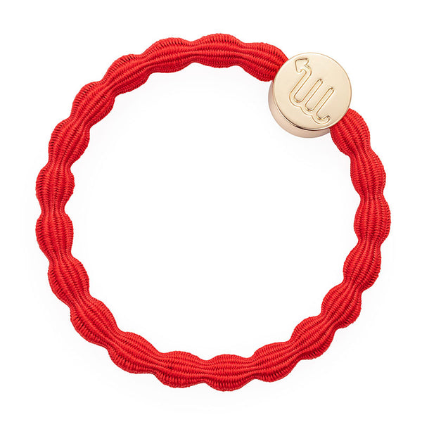 Strawberry Red Scorpio Bobble Band with Gold Charm