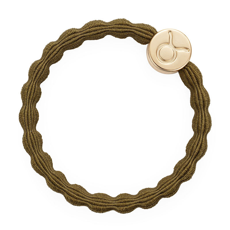 Golden Moss Taurus Bobble Band with Gold Charm