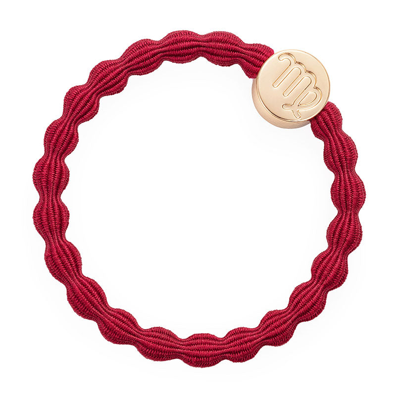 Burgundy Virgo Bobble Band with Gold Charm