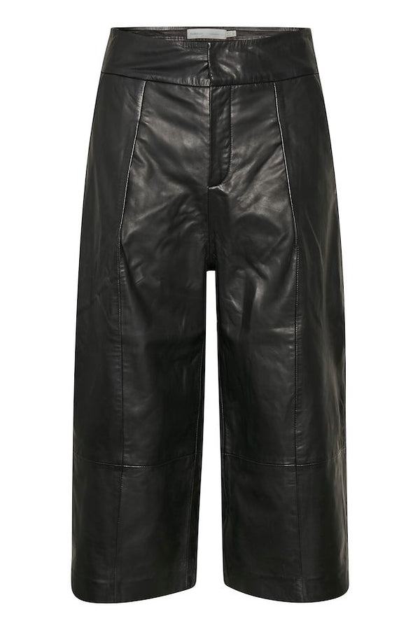 InWear JayleeIW 100% Leather Culottes in Black
