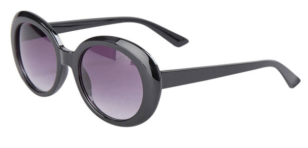 Numph Nuquity Sunglasses with Black Frames in a Pink Velour Hard Case
