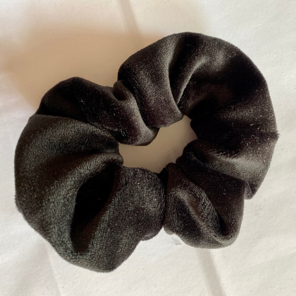 Black Velour Scrunchie