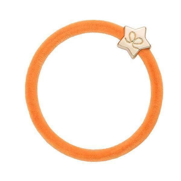 Orange Velvet Bobble Band
