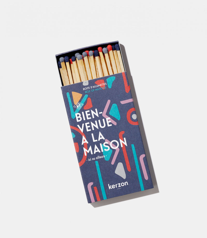 Kerzon Paris Box of Long Matches with Coloured Tips