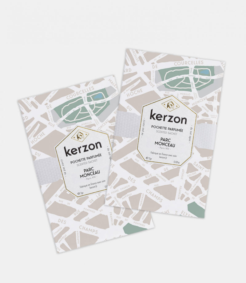 Kerzon Paris Perfume Scented Sachets in Parc Monceau (Pack of 2)