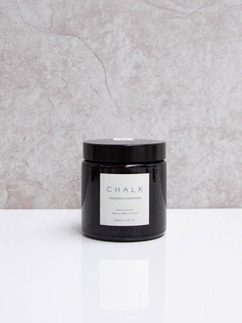 Chalk Candle 120ml - Lavender & Geranium