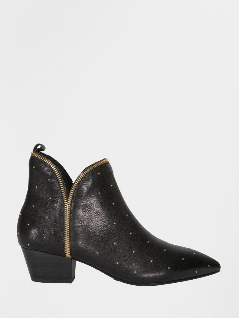 Sofie Schnoor Black Leather Studded Boot