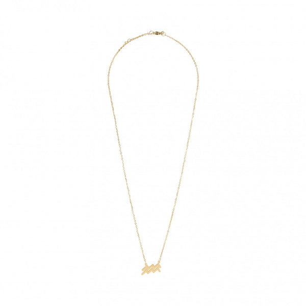 Sofie Schnoor Gold Plated Aquarius Star Sign Zodiac Necklace