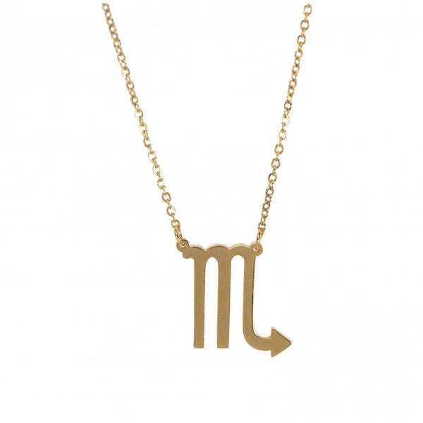 Sofie Schnoor Gold Plated Scorpio Star Sign Zodiac Necklace