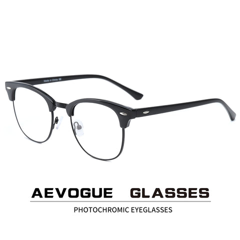 Photochromic Glasses Prescription Frame Men Optical Eyeglasses Women Eyewear Anti Blue Light Glasses KS101