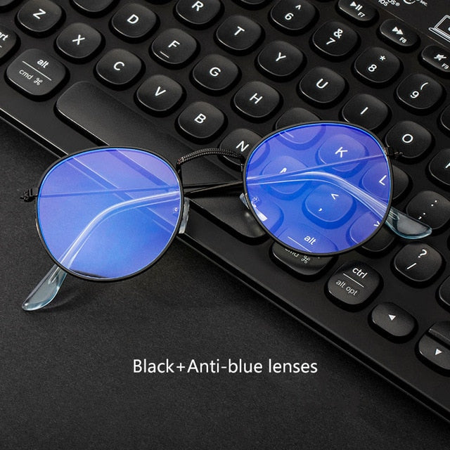 Computer Glasses Anti Blue Ray Glasses Blue Light Blocking Glasses Optical Eye Spectacle UV Blocking Gaming Filter Round Glasses