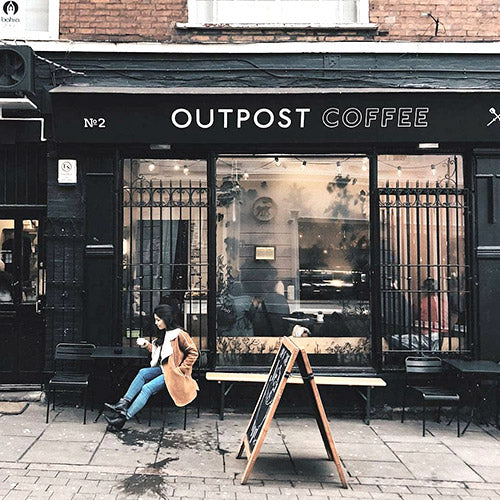 Inside Outpost Coffee Roasters Nottingham