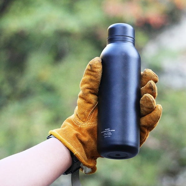 Rivers Black Stem Double Walled Stainless Steel Vacuum Flask (500ml)